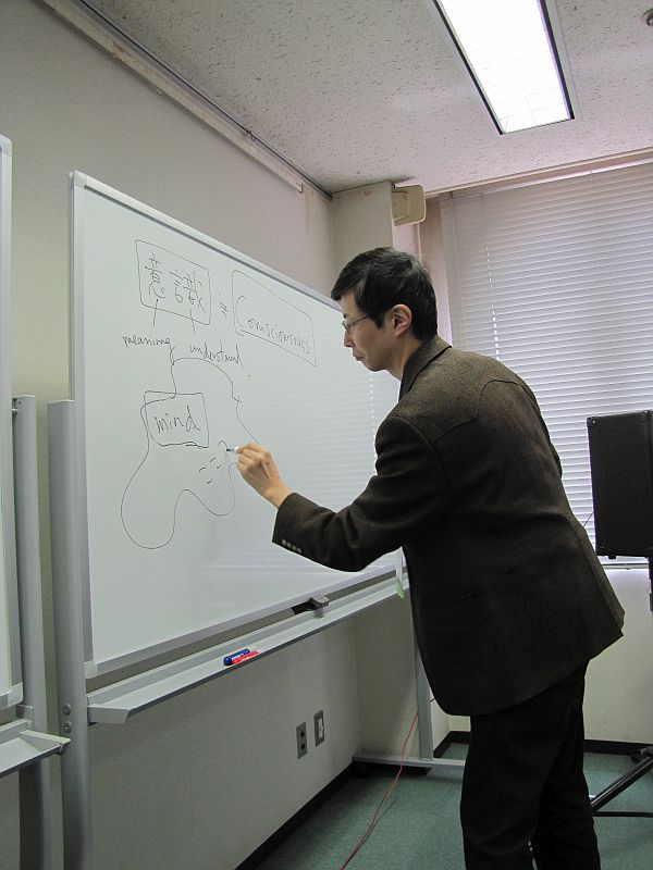 Dr. Hideaki Sena diagrams his Theory of Mind.