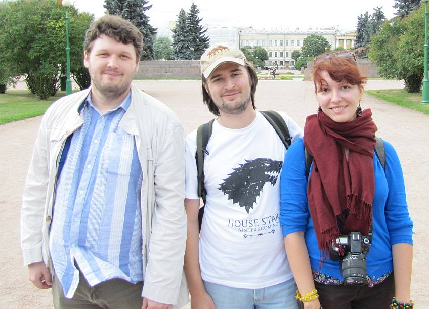 Nikolai (translator/guide-dude), Vlad (translator), Елена (photographer).