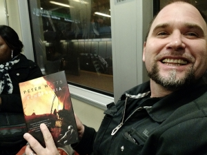 Fellow scribe Jon Evans sent this to me yesterday. Random encounter on a subway. Oh, how I have longed for such a moment.