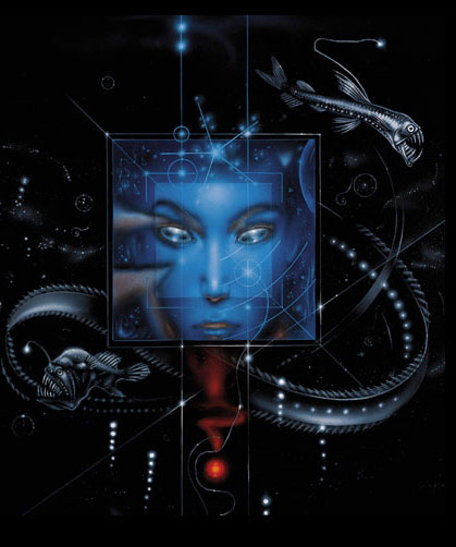 Bruce Jensen´s cover art for Starfish, 1999.